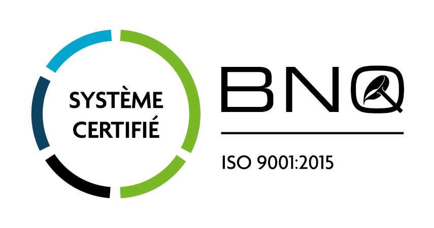 BNQ Logo CS ISO9001 FR CMYK